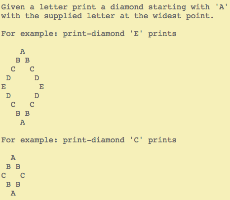 Print Diamond instructions